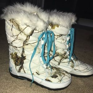 Realtree girl snow boots white camo real tree 8
